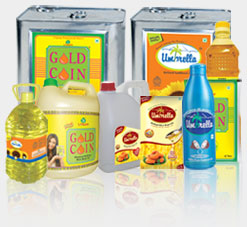 Gold Coin Refined Rice Bran Oil, Gold Coin Refined Sunflower Oil, Gold Coin Refined Palmolein Tins (R.B.D.), Gold Coin Refined Cotton Seed Oil, Umbrella Refined Rice Bran Oil, Umbrella Refined Sunflower Oil, Umbrella Refined Mustard Oil, Umbrella Refined Coconut Oil